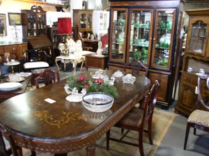 antique wood dining sets maryland